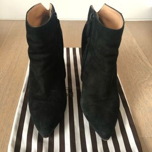 Cole Haan (Nike Air) black suede platform booties
